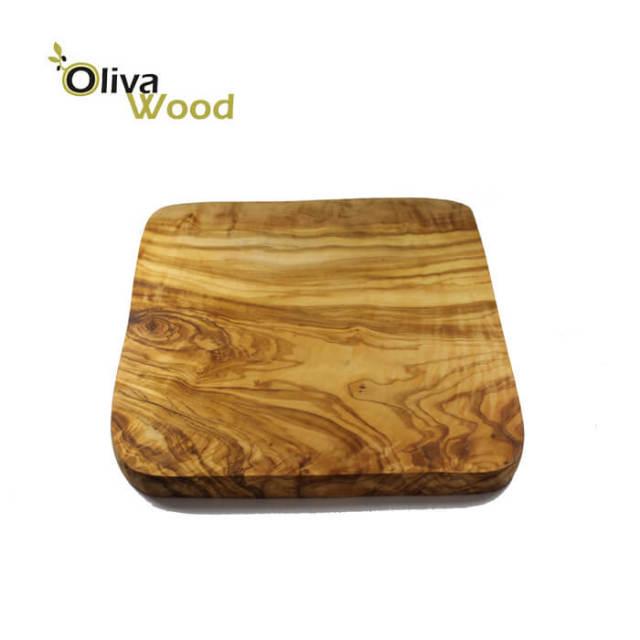 オリーバウッド OlivaWood(オリーブウッド)オリーブの木まな板一枚板カッティングボード 正方形 厚型 20×20 #SQ2020L
