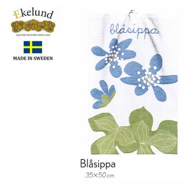 エーケルンド Ekelund BLASIPPA (雪割草) 35×50cm 【キッチンタオル/タペストリー/北欧/オーガニックコットン】 #46391