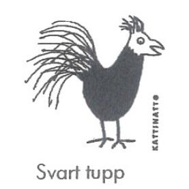 【完売】カティナット KATTINATT スポンジワイプ・キッチンワイプ(ディッシュクロス) 鳥(黒)svart tupp