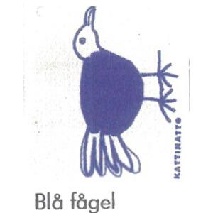 【完売】カティナット KATTINATT スポンジワイプ・キッチンワイプ(ディッシュクロス) 鳥(青)Bla fagel