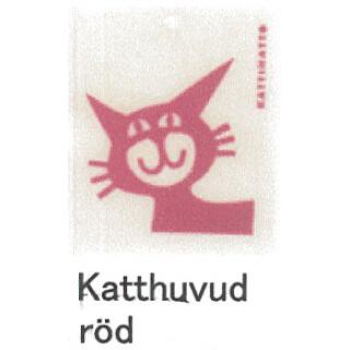 【完売】カティナット KATTINATT スポンジワイプ・キッチンワイプ(ディッシュクロス) 猫(赤)katthuvud rod