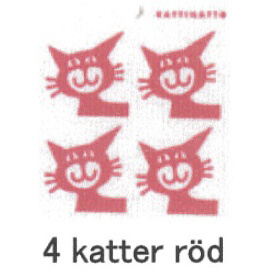 【完売】カティナット KATTINATT スポンジワイプ・キッチンワイプ(ディッシュクロス) 猫(赤)4katter rod