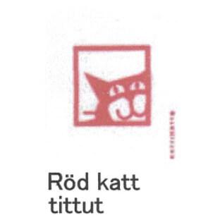 【完売】カティナット KATTINATT スポンジワイプ・キッチンワイプ(ディッシュクロス) 猫窓(赤)rod katt tittut