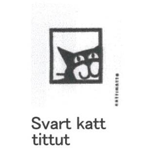 【完売】カティナット KATTINATT スポンジワイプ・キッチンワイプ(ディッシュクロス) 猫窓(黒)svart katt tittut
