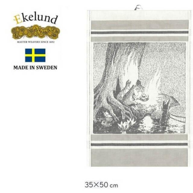 エーケルンド Ekelund ムーミンシリーズ Moomin LATE SUPPER 2015 (ムーミン) 35×50cm 【キッチンタオル/タペストリー】 #55294