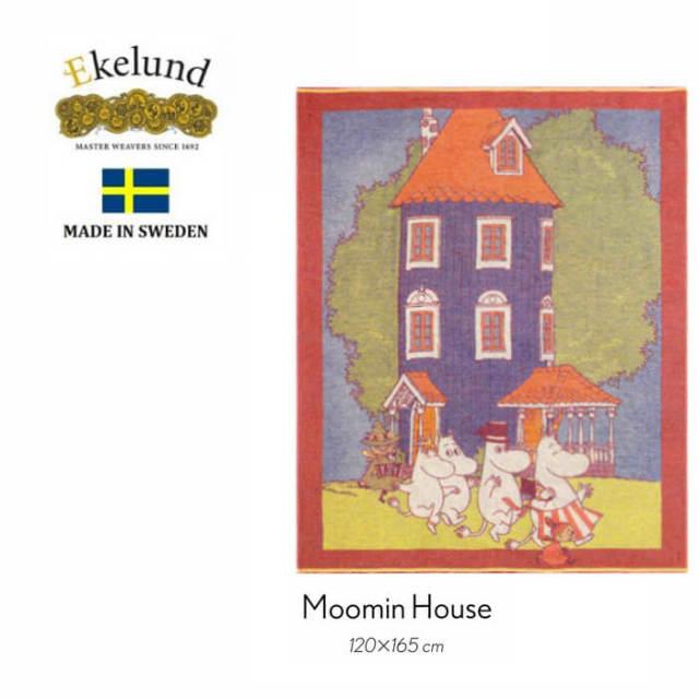 エーケルンド Ekelund ムーミンシリーズ Moomin House 120×165cm 【ブランケット/ギフト/北欧/オーガニックコットン】 #648128