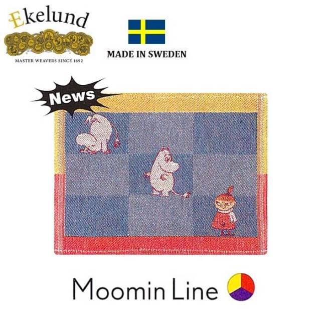 エーケルンド Ekelund ムーミンシリーズ Moomin MOOMIN LINE (ムーミンフローレン) 30×25cm 【ディッシュクロス/キッチンクロス】 #31731