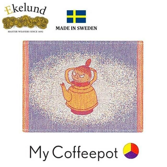 エーケルンド Ekelund ムーミン MY COFFEEPOT (ポットミイ) 30×25cm 【ディッシュクロス/キッチンクロス/北欧/オーガニックコットン】 #21527