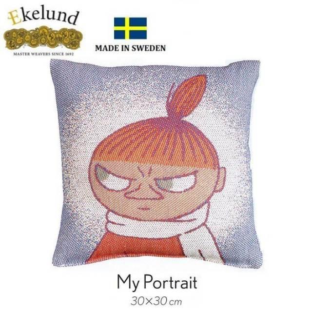 【廃番】エーケルンド Ekelund ムーミンシリーズ Moomin MY  PORTRAIT (リトルミィ) 30×30cm 【クッション中綿付き】15410