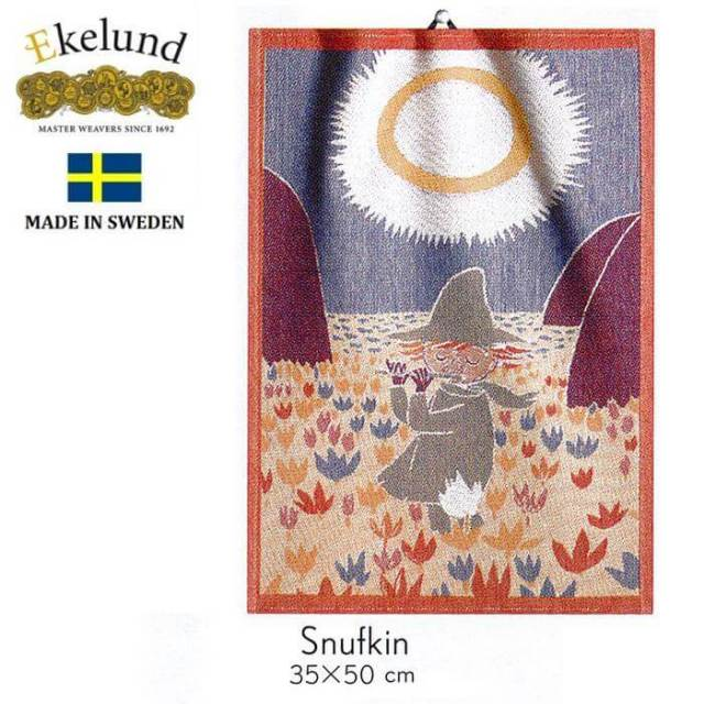 エーケルンド Ekelund ムーミンシリーズ Moomin SNUFKIN (スナフキン) 35×50cm 【キッチンタオル/タペストリー】 #41402