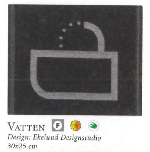 【廃番】エーケルンド Ekelund VATTEN 耐熱95℃表記 30×25cm【★アウトレット品★】