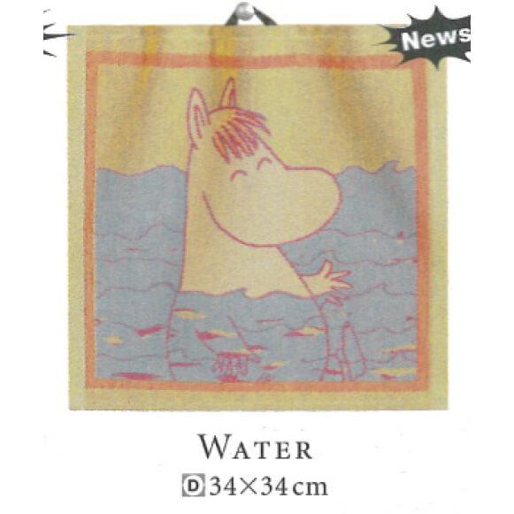 【廃番】エーケルンド Ekelund ムーミン WATER 34×34cm【キッチンタオル/タペストリー】【★アウトレット品★】