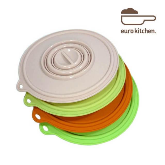ユーロキッチン eurokitchen シリコンカバー 中 (鍋蓋 落とし蓋 シリコン蓋 ビンオープナー)