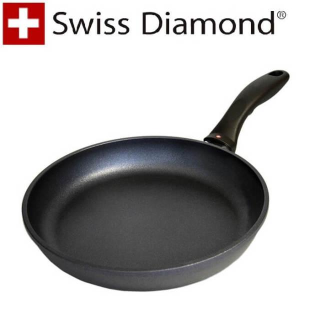 【完売】スイスダイヤモンド SwissDiamond #6420浅型フライパン20cm【送料無料】【アウトレット・訳あり特価品】