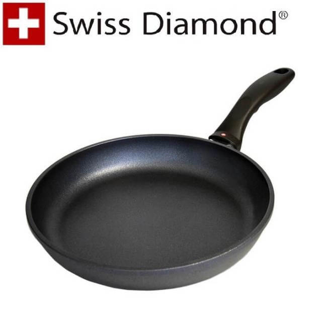 【完売】スイスダイヤモンド SwissDiamond #6424IH浅型フライパン24cm【IH】【送料無料】【アウトレット・訳あり特価品】