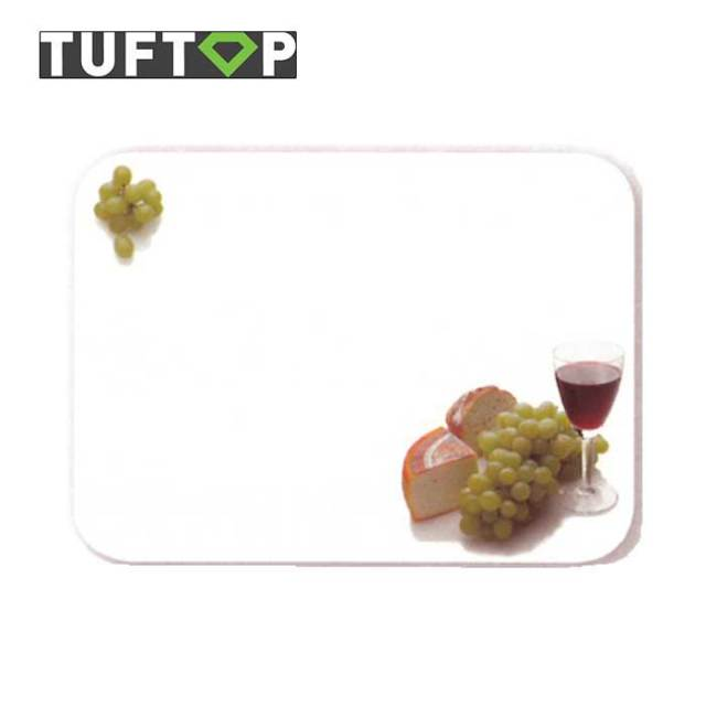 タフトップ TUFTOP ガラスまな板 『カントリー』 中【約30×40cm】【四角】フレンチ・クィズィンWH