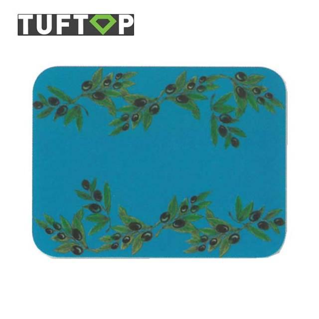 タフトップ TUFTOP ガラスまな板 『カントリー』 大【約40×50cm】【四角】ブラックオリーブ