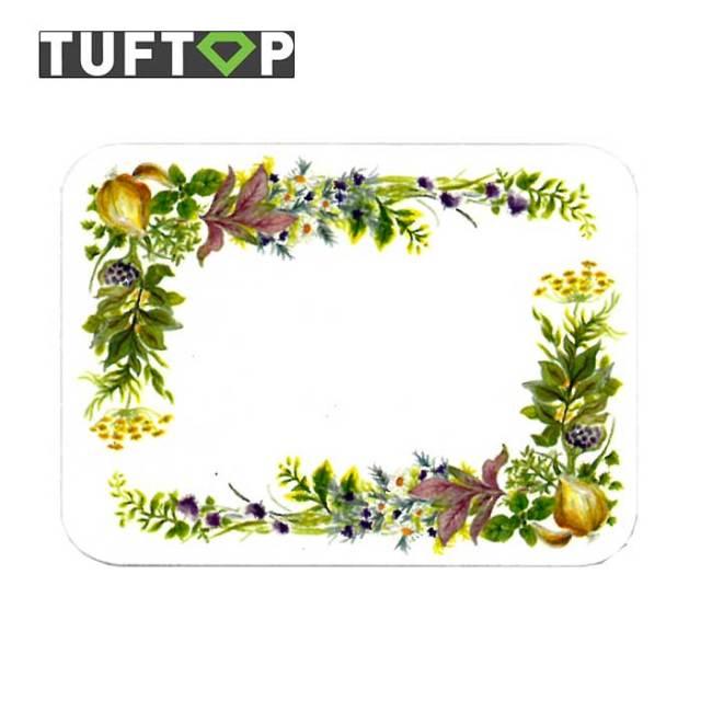 タフトップ TUFTOP ガラスまな板 『カントリー』 小【約23×30cm】【四角】チェルシーハーブ
