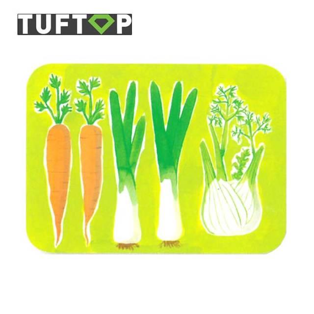 タフトップ TUFTOP ガラスまな板 『カントリー』 中【約30×40cm】【四角】ビタミン