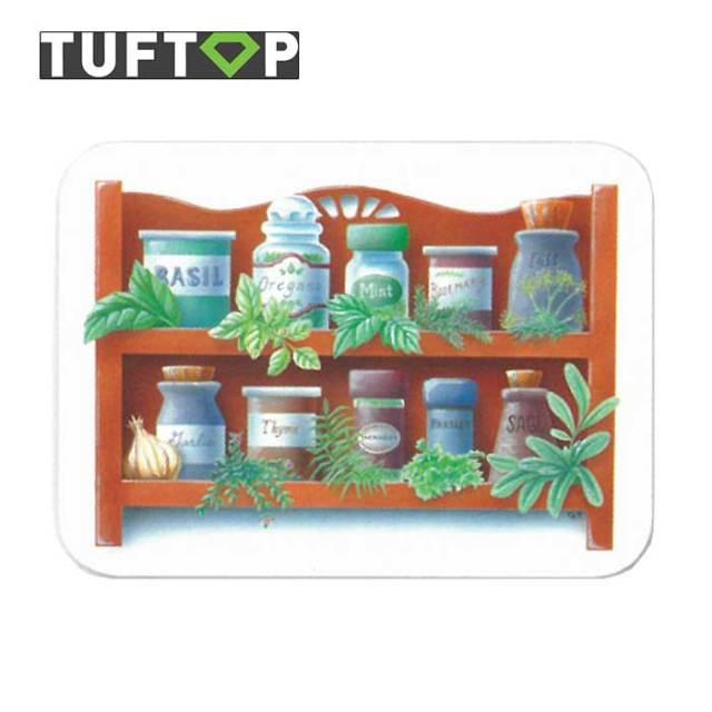 タフトップ TUFTOP ガラスまな板 『カントリー』 中【約30×40cm】【四角】スパイスラック