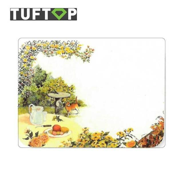 タフトップ TUFTOP ガラスまな板 『カントリー』 小【約23×30cm】【四角】シュラブガーデン