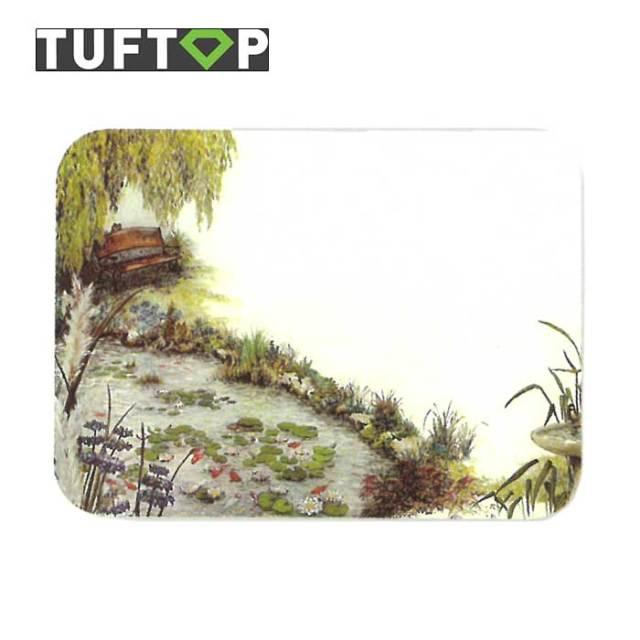 タフトップ TUFTOP ガラスまな板 『カントリー』 小【約23×30cm】【四角】ウォーターガーデン
