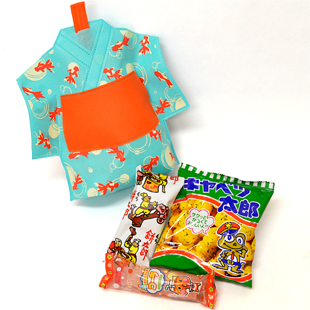 kta-058 ラッピング袋入りお菓子詰め合わせ 浴衣(ゆ…