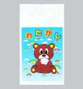 bm-213 超特価わたがし用袋(クマさん)100枚入【綿菓子用袋】