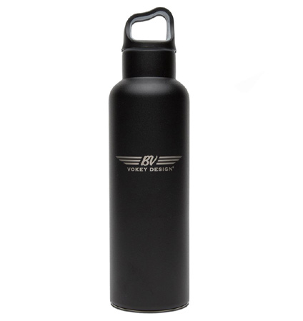 BV Wings Stainless Steel Sport Bottle - Black