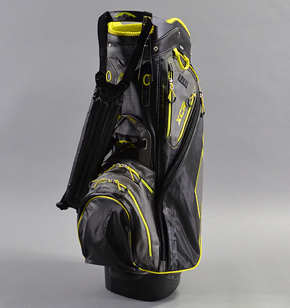 2017 Sun Mountain XCR Cart Bag Black/Gunmetal/Citron