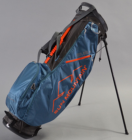 2018 Sun Mountain 2.5+ Stand Bag Gunmetal/Tidal/Orange