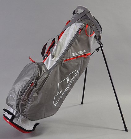 2018 Sun Mountain 2.5+ Stand Bag White/Gray/Red