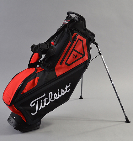 2018 Titleist Players 4 Stand Bag Black/Red