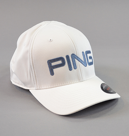 2018 PING Tour Structured Cap White/Cadet Grey Seasonal Limited Color