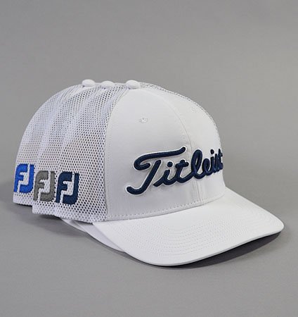 2018 Titleist Tour Snapback Mesh Cap White Collection