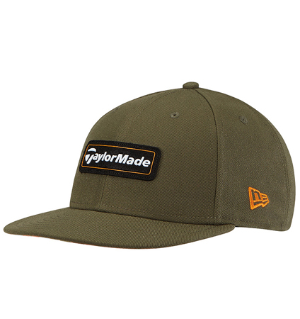 TaylorMade New Era 9Fifty SnapBack Hat Olive/Orange