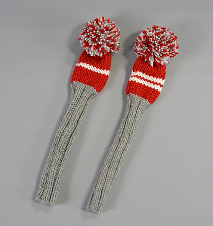 2017 Jan Craig Headcovers Silver/White/Red Hybrid