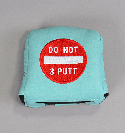 AM&E Do Not 3Putt Universal Large Mallet Putter Cover Ice