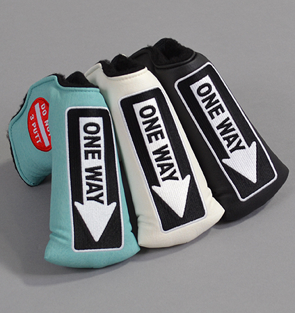 AM&E One Way x Do Not 3Putt Putter Cover Snap-Fit