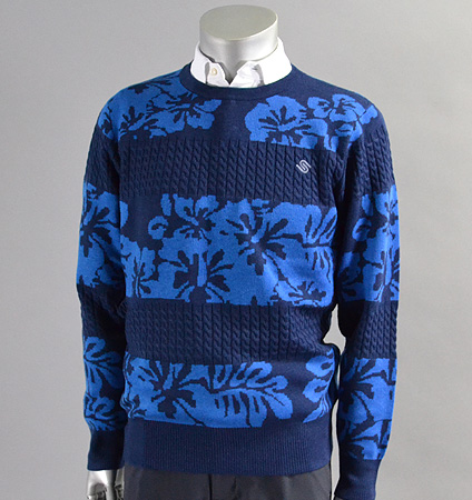 SubSeventy AS10085 Hibiscus Sweater Blue
