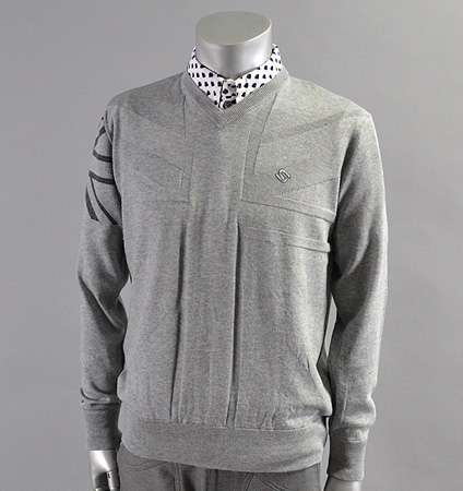 SubSeventy AS11002 Union Jack Sweater Gray