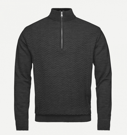 KJUS MEN LINARD KNIT MIDLAYER HZ Black