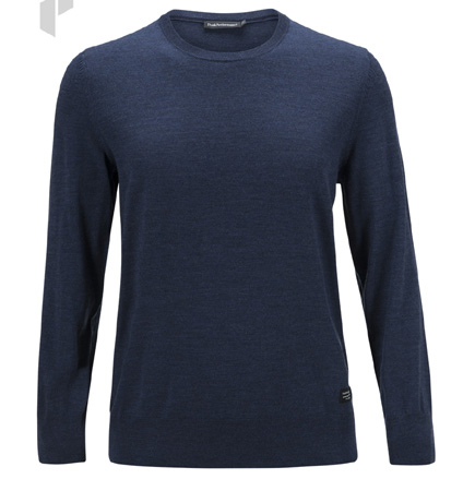 PeakPerformance Merino Crew Blue