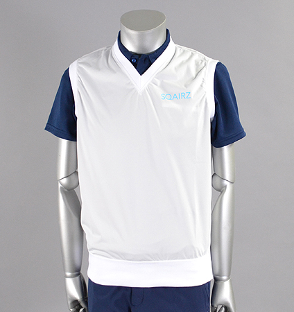 SQAIRZ SQCTB-02 V-Neck Wind Vest White