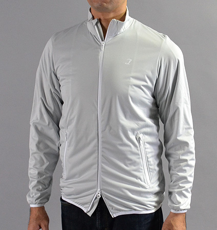 Tranvi TRJKB-01 Full Zip Stretch Wind Jacket Gray