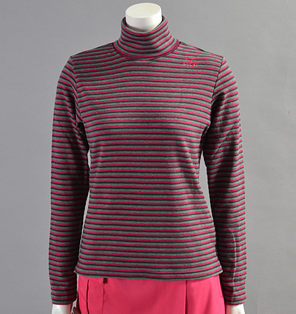2017 Fairy Powder FP17-6101 Women's Stretch BorderTurtle  Pull Over Pink/Gray