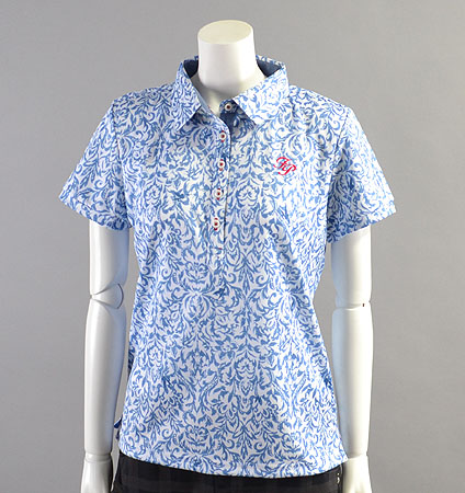 2018 Fairy Powder FP18-2105 Damask Print  Mesh Polo Blue