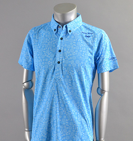 2017 ILicca Golf IG17-1101 Print BD Polo Blue