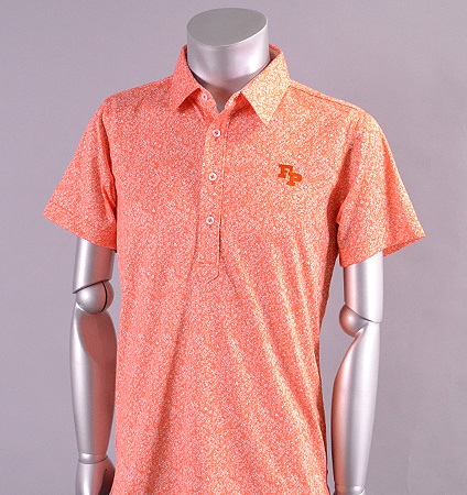 2017 Fairy Powder FP17-1110 FP Flower Print Polo Orange
