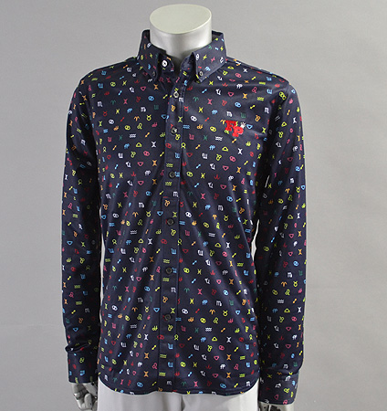 2017 Fairy Powder FP17-5100 Long Sleeve Print Polo Navy/Multi